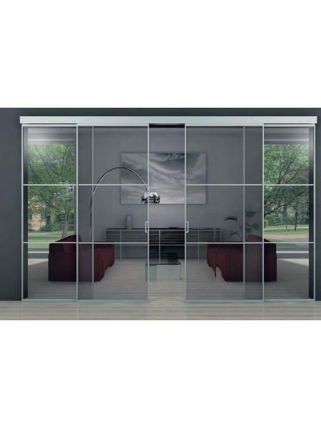 Раздвижная алюминиевая система межкомнатной двери ALUMA (образец 1)