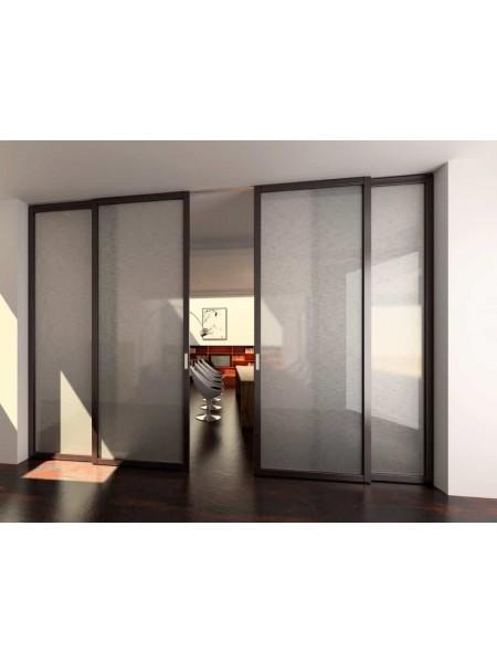 Раздвижная алюминиевая система межкомнатной двери ALUMA (образец 11)
