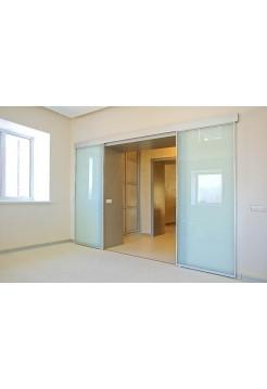 Раздвижная алюминиевая система межкомнатной двери ALUMA (образец 12)