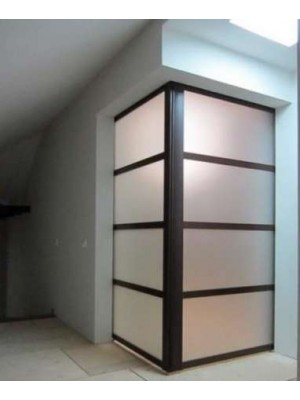 Раздвижная алюминиевая система межкомнатной двери ALUMA (образец 14)
