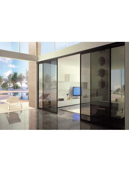 Раздвижная алюминиевая система межкомнатной двери ALUMA (образец 2)
