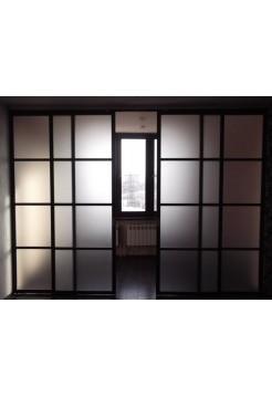 Раздвижная алюминиевая система межкомнатной двери ALUMA (образец 7)