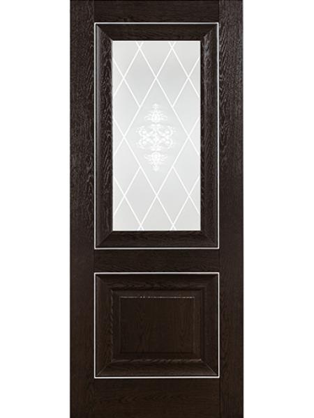 Межкомнатная дверь ПВХ 21-62 Дуб Тёмный