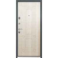 Входная дверь Торэкс Стел-07 Темно-серый муар СК-4 Перламутр белый