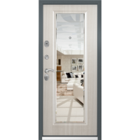 Входная дверь Торэкс Стел-05 Темно-серый муар 3ВС-1 Перламутр белый