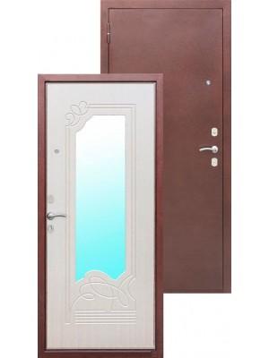 Входная дверь Ampir Белёный дуб / зеркало