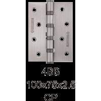 Петля дверная универсальная 4BB-100*75*2,5 / 2шт. (матовый хром)