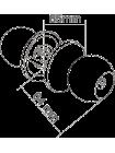Ручка дверная Z102SN (хром матовый)