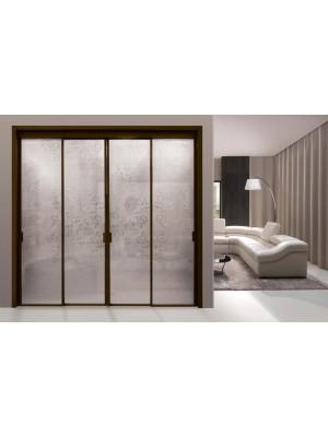 Раздвижная алюминиевая система межкомнатной двери ALUMA (образец 16)