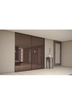 Раздвижная алюминиевая система межкомнатной двери ALUMA (образец 18)