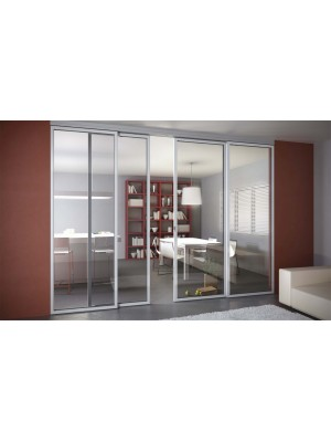 Раздвижная алюминиевая система межкомнатной двери ALUMA (образец 4)