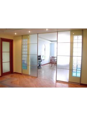Раздвижная алюминиевая система межкомнатной двери ALUMA (образец 5)