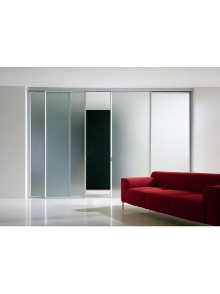 Раздвижная алюминиевая система межкомнатной двери ALUMA (образец 8)