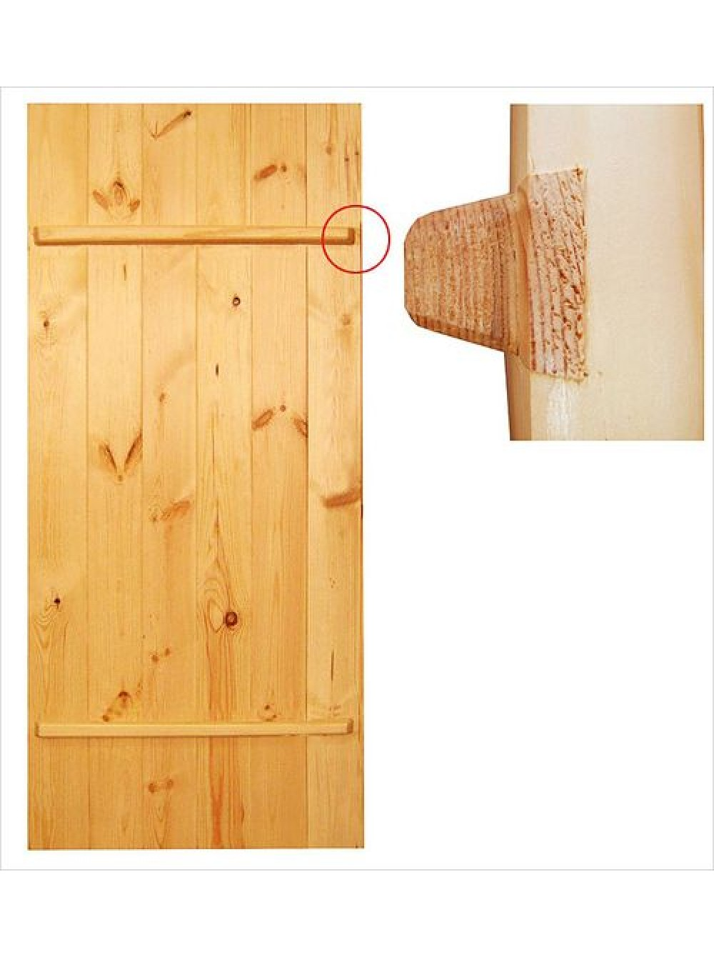 Как сделать двери на клиньях