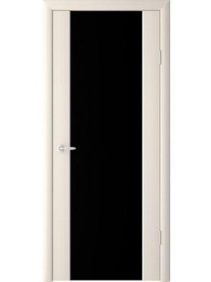 Межкомнатная дверь Триплекс чёрное 2140 Капучино