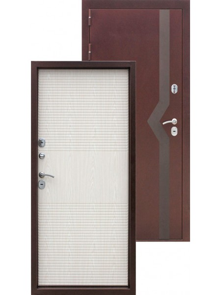 Входная дверь Izoterma 10 Медный антик Белёный дуб